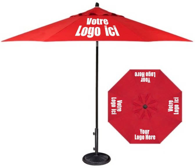Le parasol imprimé: idéal pour différentes manifestations