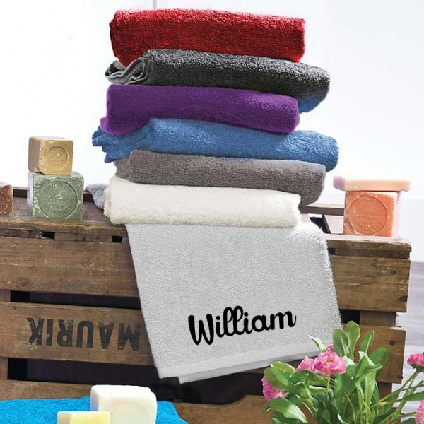 la serviette toilette personnalis e en cadeau d affaires. Black Bedroom Furniture Sets. Home Design Ideas